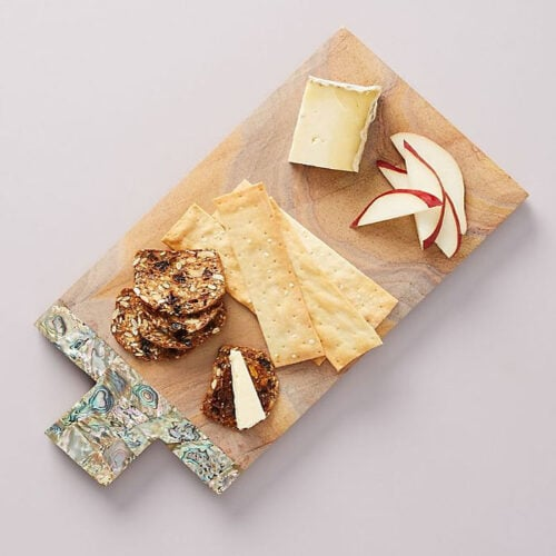 This cheese board is such a great gift idea - check out how pretty the detailing is! #ABlissfulNest