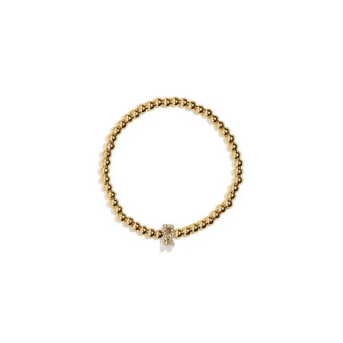 This gold initial bracelet is such a fun holiday gift! #ABlissfulNest