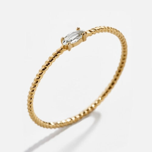 This dainty gold ring is such a fun gift idea! #ABlissfulNest