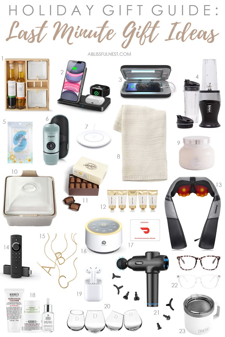 The BEST last minute gift ideas to help you complete your holiday shopping. #ABlissfulNest #Christmas #giftideas