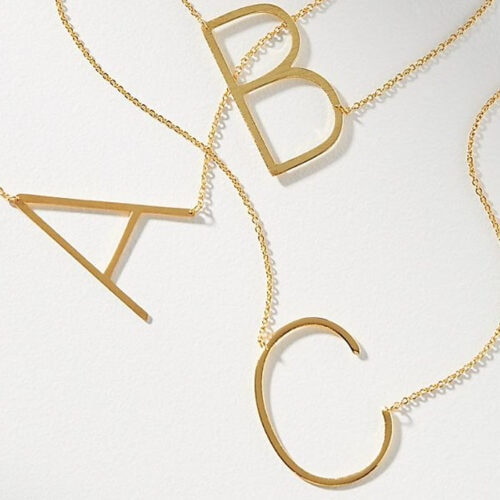 This gold monogram necklace is such a great gift idea! #ABlissfulNest