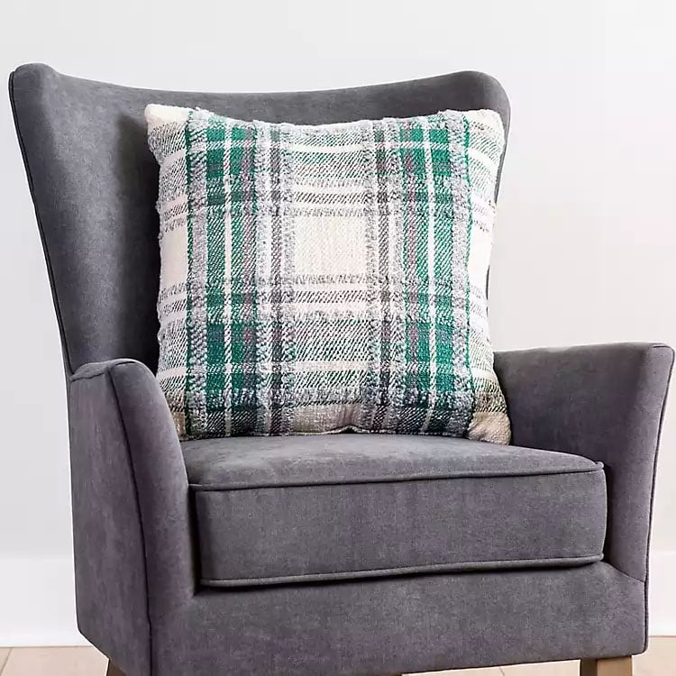 This plaid throw pillow is such a fun one to add to your home! #ABlissfulNest