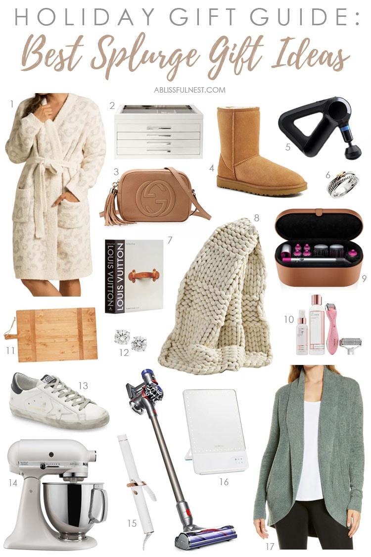 Christmas gift ideas to splurge on! #ABlissfulNest #christmas #giftideas