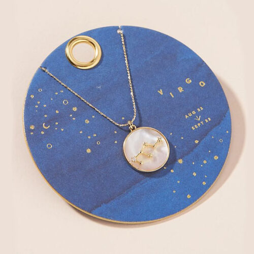 This zodiac necklace is such a fun under $50 gift idea! #ABlissfulNest