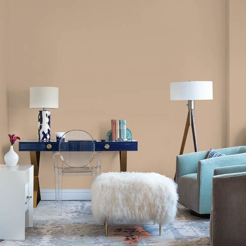 Be Well 2021 Color Palette in a great room