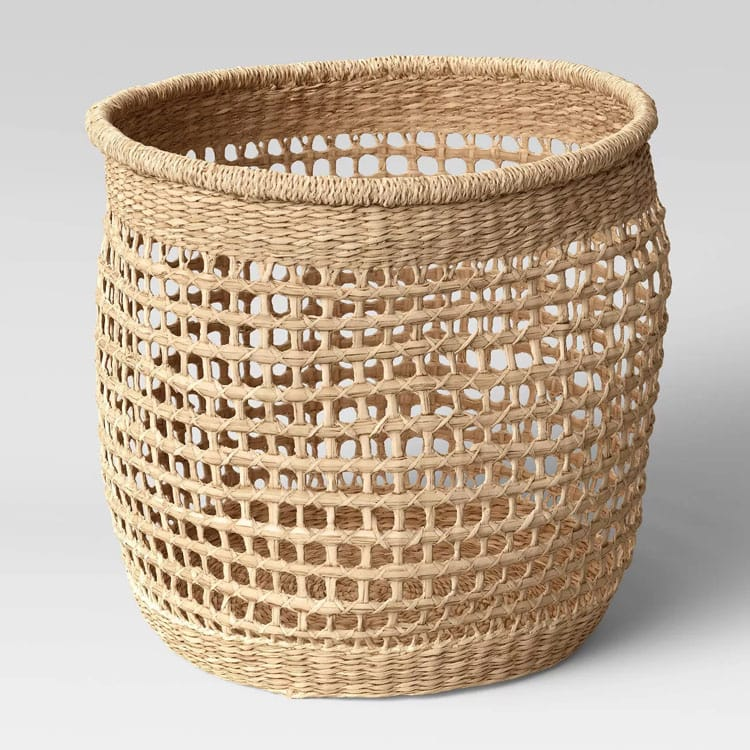 This natural woven seagrass basket is the perfect new decor piece to add to your home! #ABlissfulNest