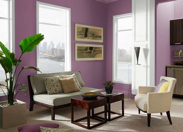Euphoric Magenta by Behr in living room