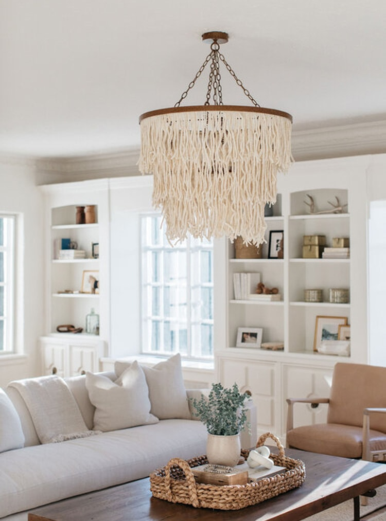 This stunning living room designed by Kate Marker Interiors is so beautiful!