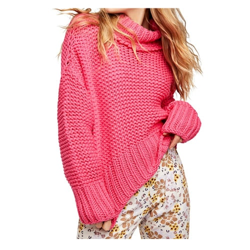 This hot pink knit sweater is such a fun one to add to your closet and it's perfect to wear for Valentine's Day! #ABlissfulNest