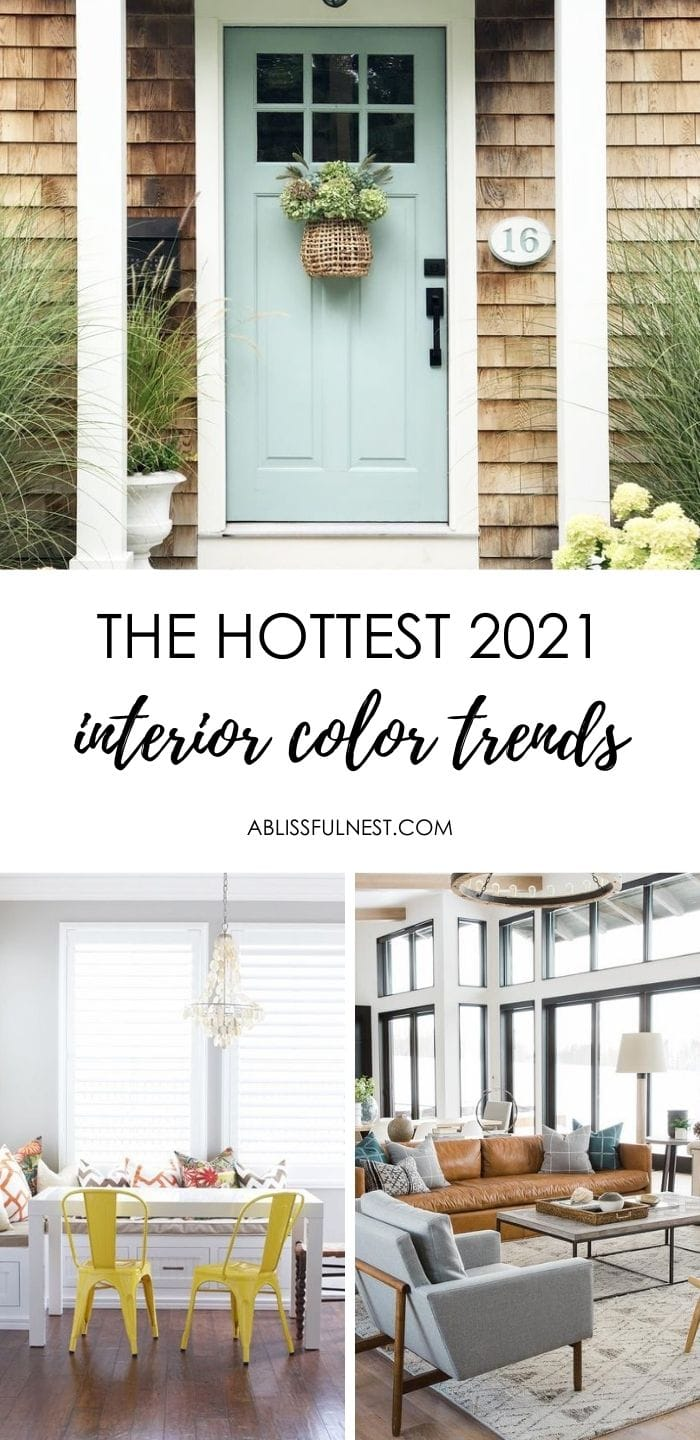 The color trends for 2021 are strong so get all the details on how to use them in your home! #ABlissfulNest #2021colors #paintcolors