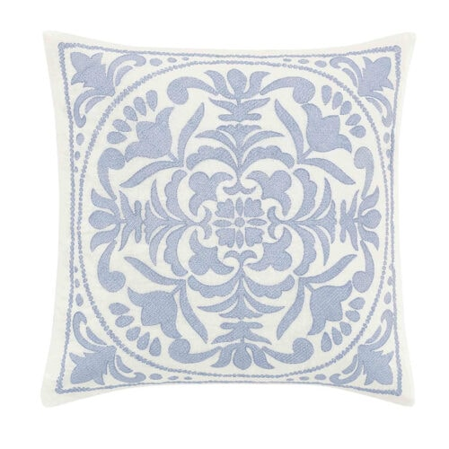This blue floral throw pillow is a stunner and under $40! #ABlissfulNest
