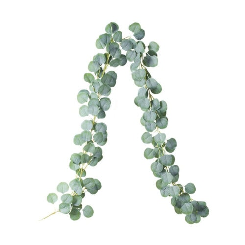 This faux eucalyptus garland is under $10 and so, so pretty! #ABlissfulNest