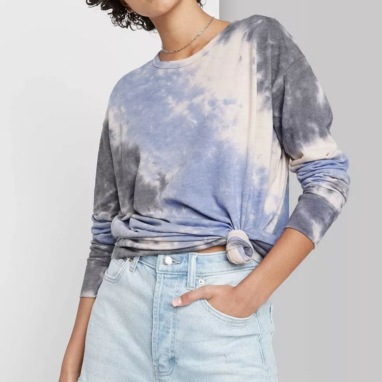 This long sleeved tie dye tee is only $15 and so cute! #ABlissfulNest
