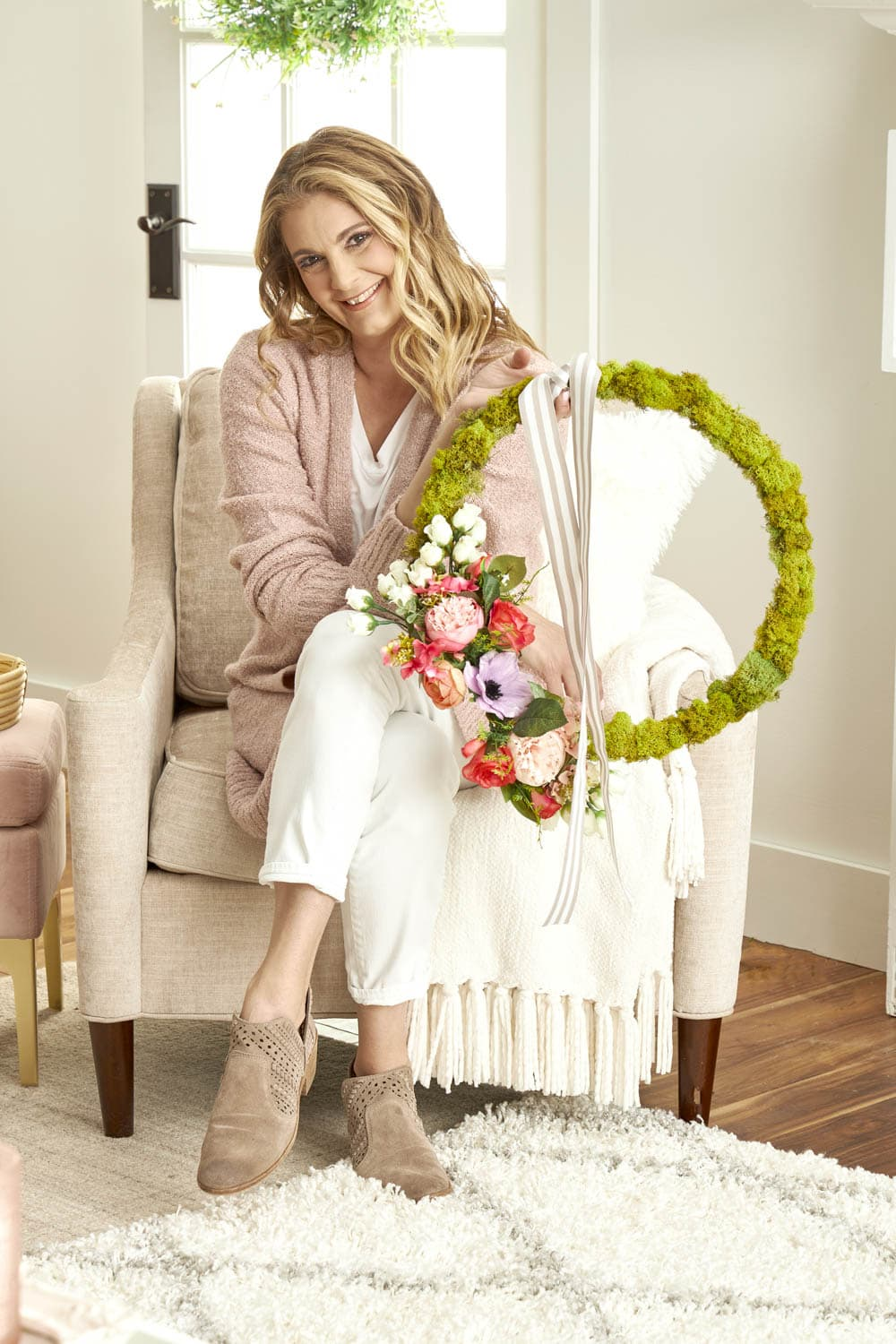 How To Make A Moss Wreath For Spring