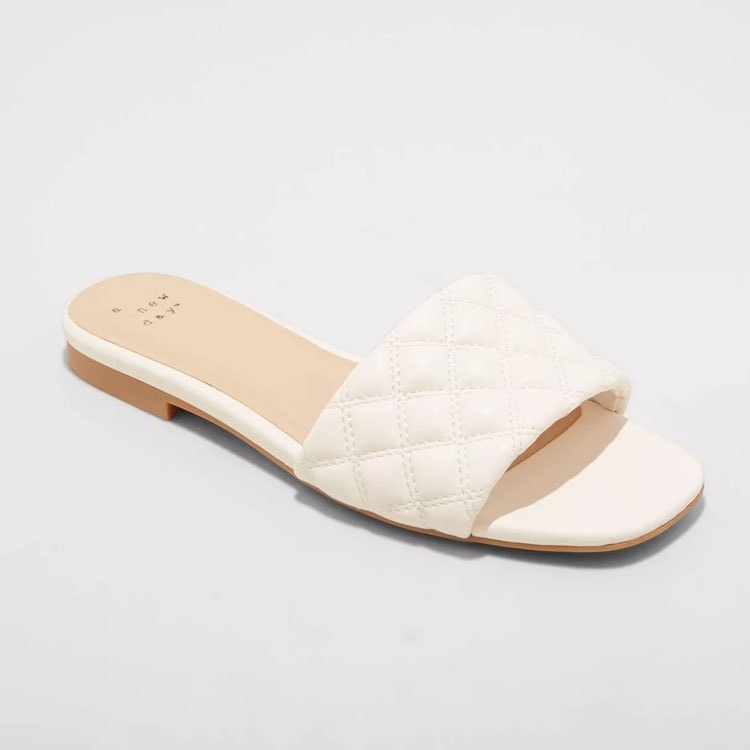 These white braided sandals are perfect for spring! #ABlissfulNest