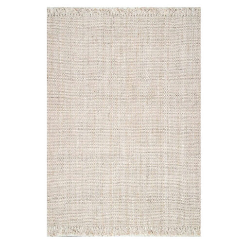 This natural jute area rug is sooo beautiful and perfect for your living room! #ABlissfulNest