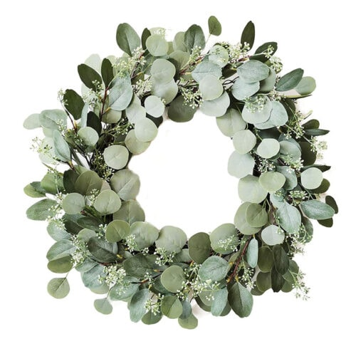 This artificial eucalyptus wreath is a great decor piece to add to your hoem this spring! #ABlissfulNest