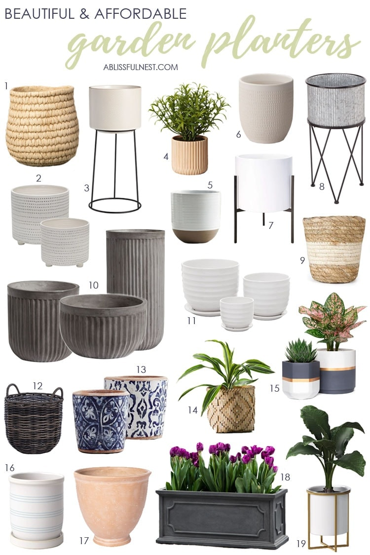 Beautiful and Affordable Garden Planters