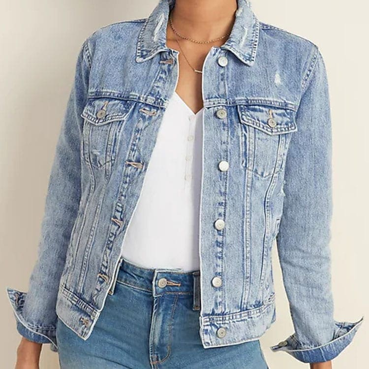 This distressed denim jacket is a must have for spring! #ABlissfulNest
