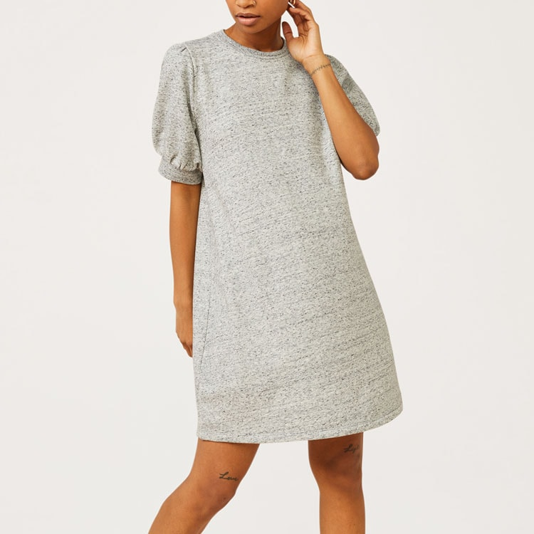 This gray sweatshirt dress is such a fun staple to add to your closet! #ABlissfulNest