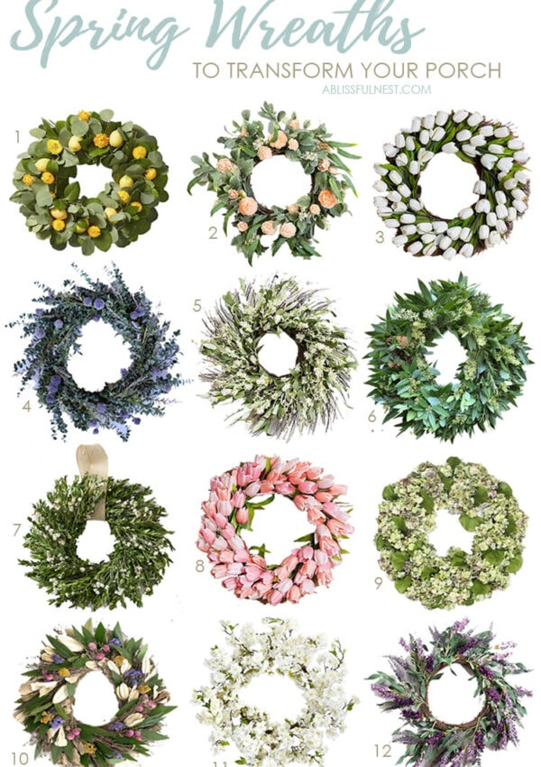 Spring Wreaths to Transform Your Porch