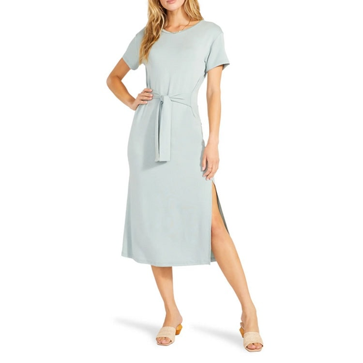 This waist tie midi dress is perfect for spring and even for this year's Easter dress! #ABlissfulNest