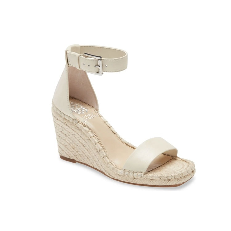 These white ankle strap sandals are a perfect spring and summer shoe! #ABlissfulNest