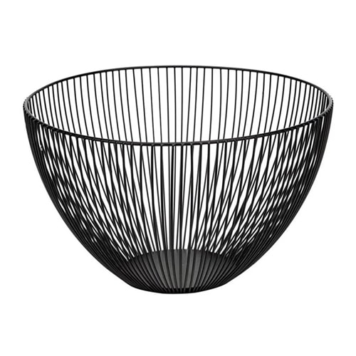 This black wire fruit basket is a useful and beautiful piece of decor to add to your kitchen! #ABlissfulNest