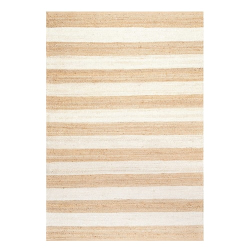 This natural jute rug is a perfect find for your kitchen! #ABlissfulNest