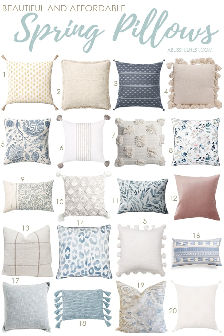 Beautiful and Affordable Spring Pillows