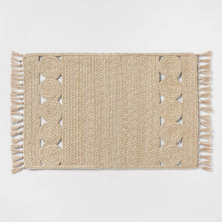 This braided rug is a perfect addition to your living space this spring! #ABlissfulNest