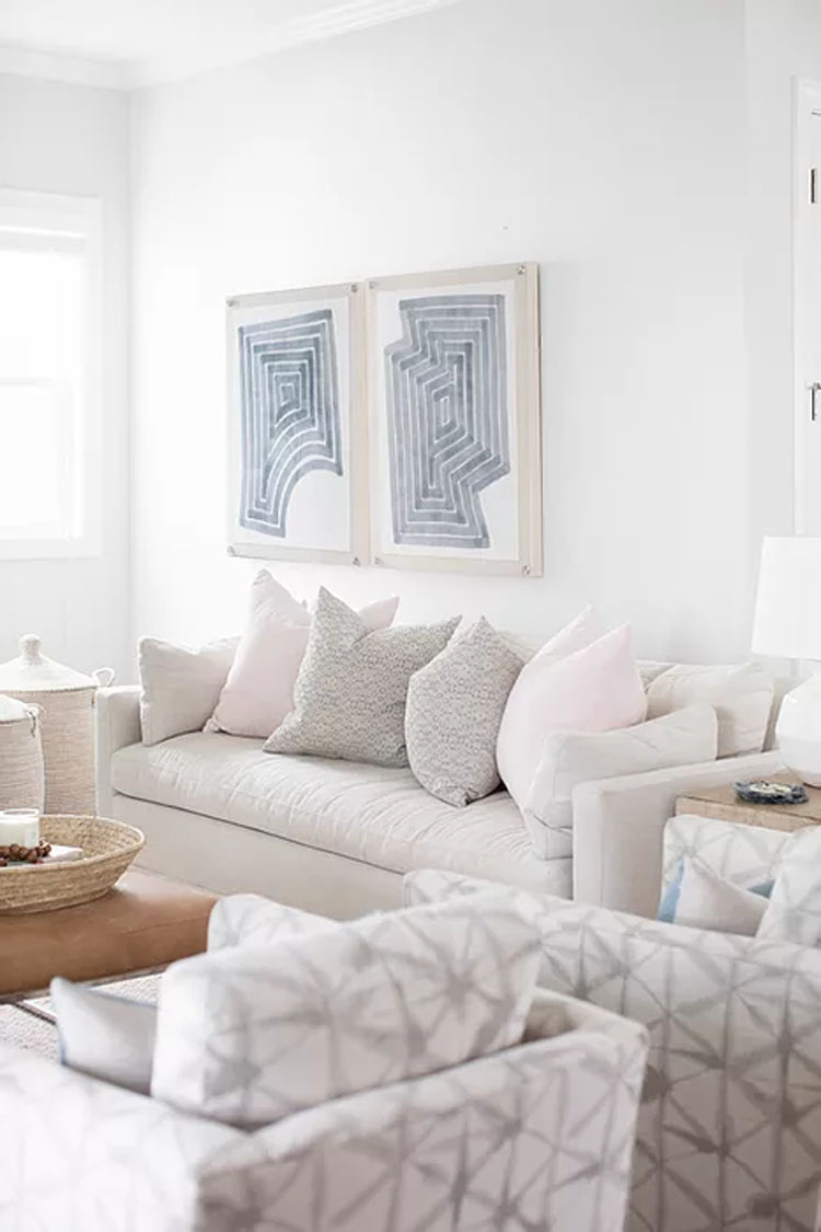 This gorgoeus living room design by Megan Molton is such a fun space!