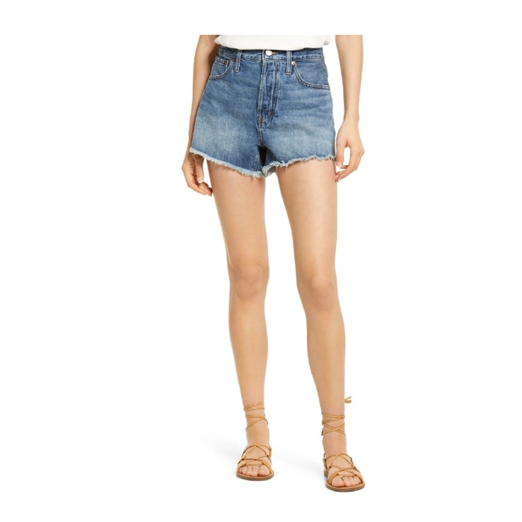 These relaxed cutoff denim shorts are affordable and the perfect length! #ABlissfulNest