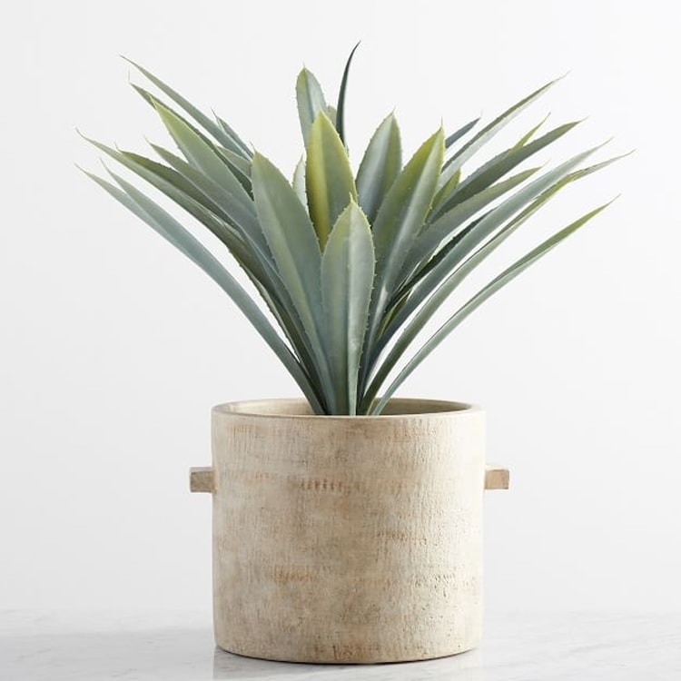 This faux potted agave plant looks so realistic! #ABlissfulNest