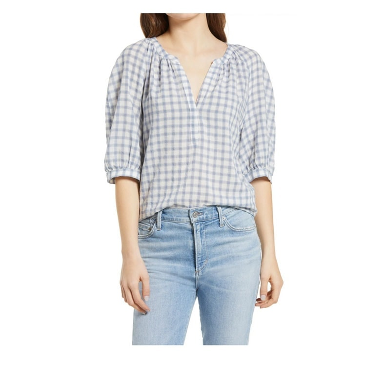 This gingham top is such a fun piece to add to your closet this spring! #ABlissfulNest