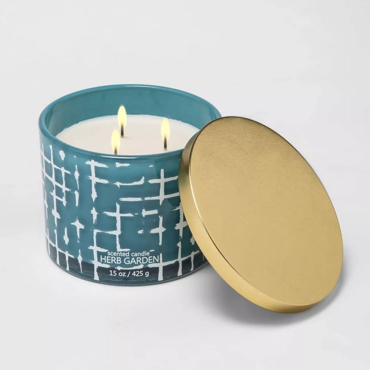 This candle is $10 and such a fun spring decor find - it smells incredible too! #ABlissfulNest