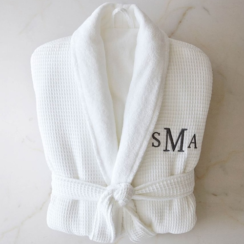 This personalized waffle knit robe is a luxurious gift to get mom this Mother's Day! #ABlissfulNest