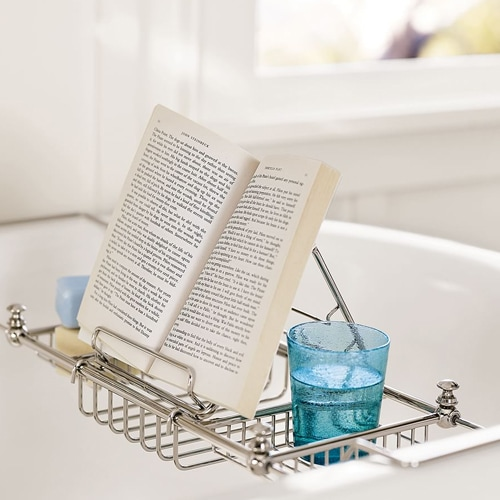 This bathtub caddy is a must-have for the mom who loves to pamper herself! #ABlissfulNest