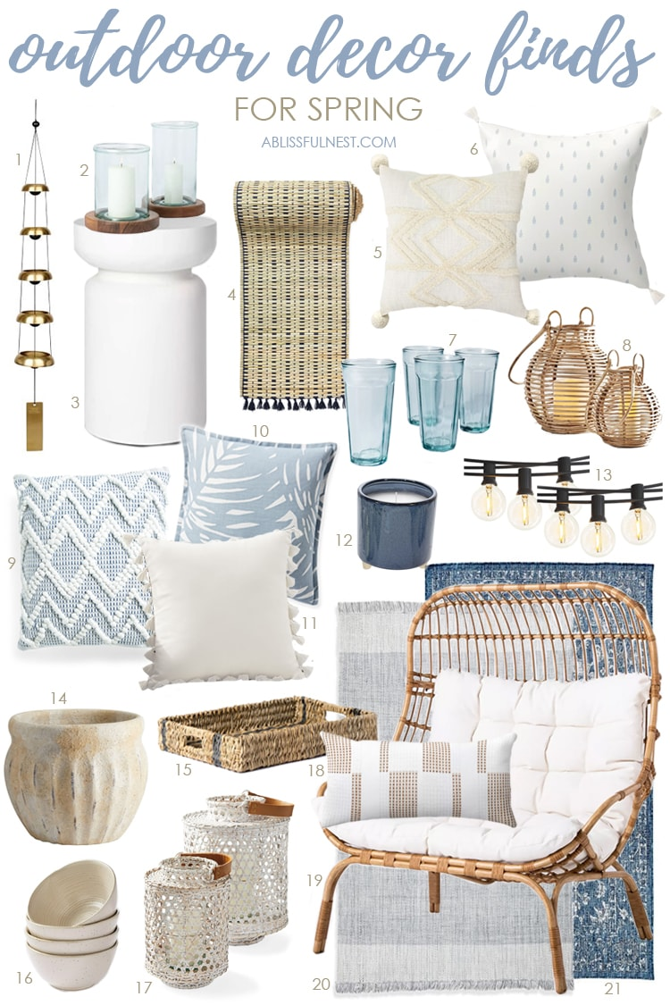 Outdoor Decor Finds for Spring