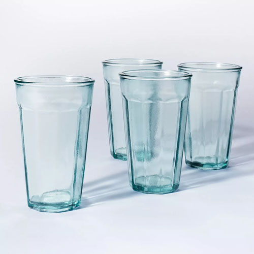 These glass tumblers are so affordable and perfect for outdoor dining this spring and summer! #ABlissfulNest