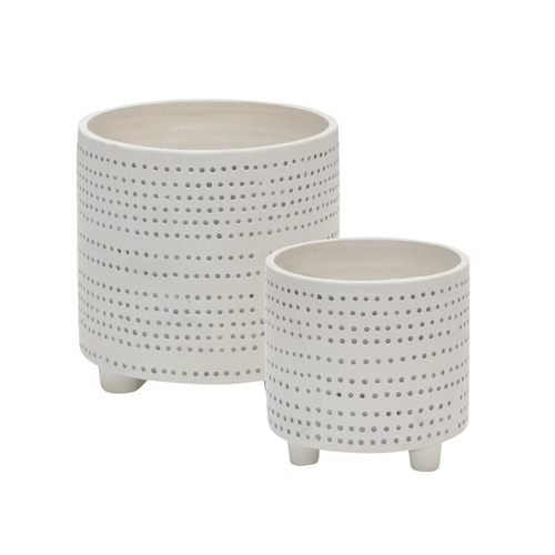 These dotted ceramic planters come in a set and are so fun! #ABlissfulNest