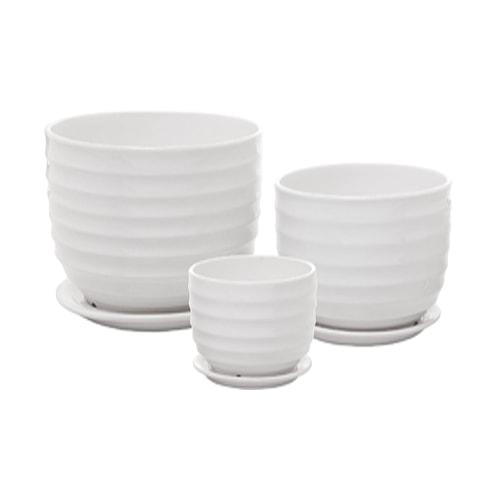 These white ceramic planters are so simplistic! #ABlissfulNest