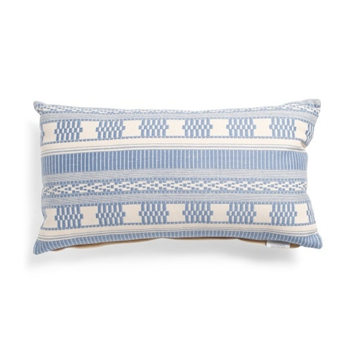 This embroidered lumbar throw pillow is such a fun find for spring! #ABlissfulNest