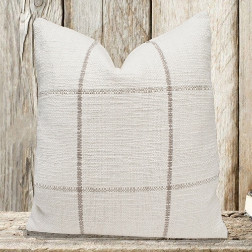 This windowpane throw pillow is simplistic but still makes such a pretty statement! #ABlissfulNest