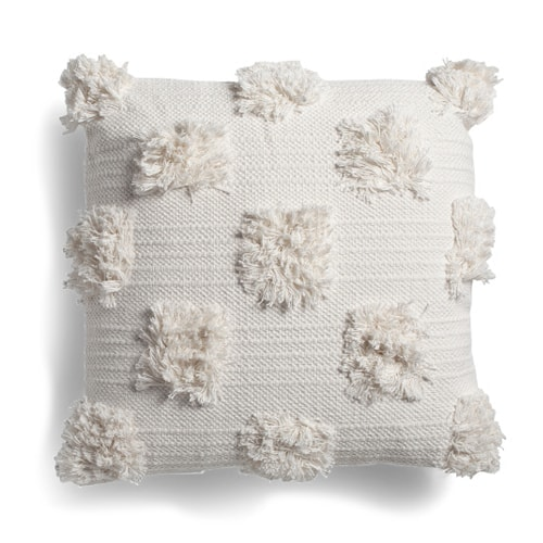 This cream colored textured throw pillow is such a fun, under $30 pillow for spring! #ABlissfulNest