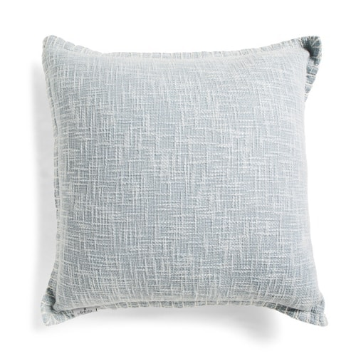 This blue textured throw pillow is the prettiest color and perfect for spring! #ABlissfulNest