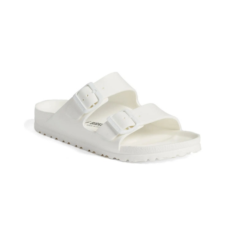 These white Birkenstock sandals are a staple for spring and summer! #ABlissfulNest