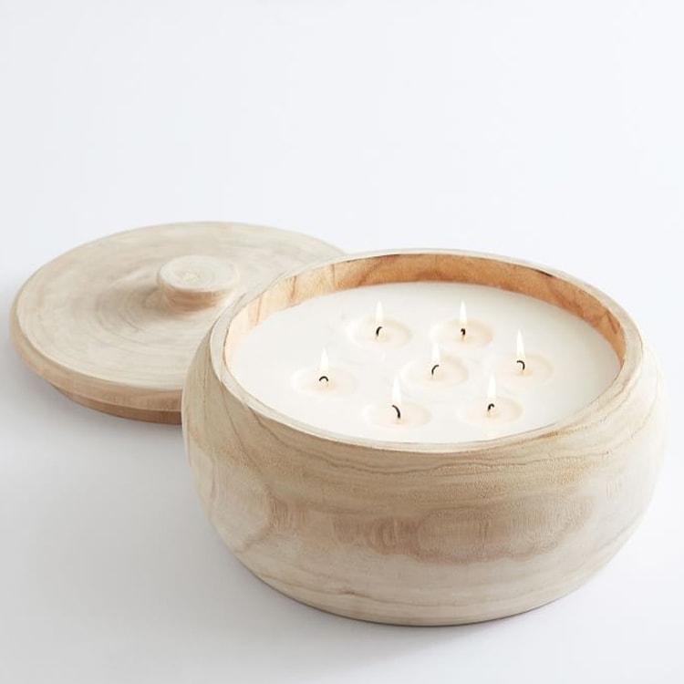 This wooden citronella candle is a must have for your patio this spring and summer! #ABlissfulNest