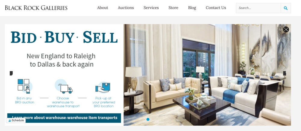 Online estate auction, consignment sale, tag sale. #ABlissfulNest #ad