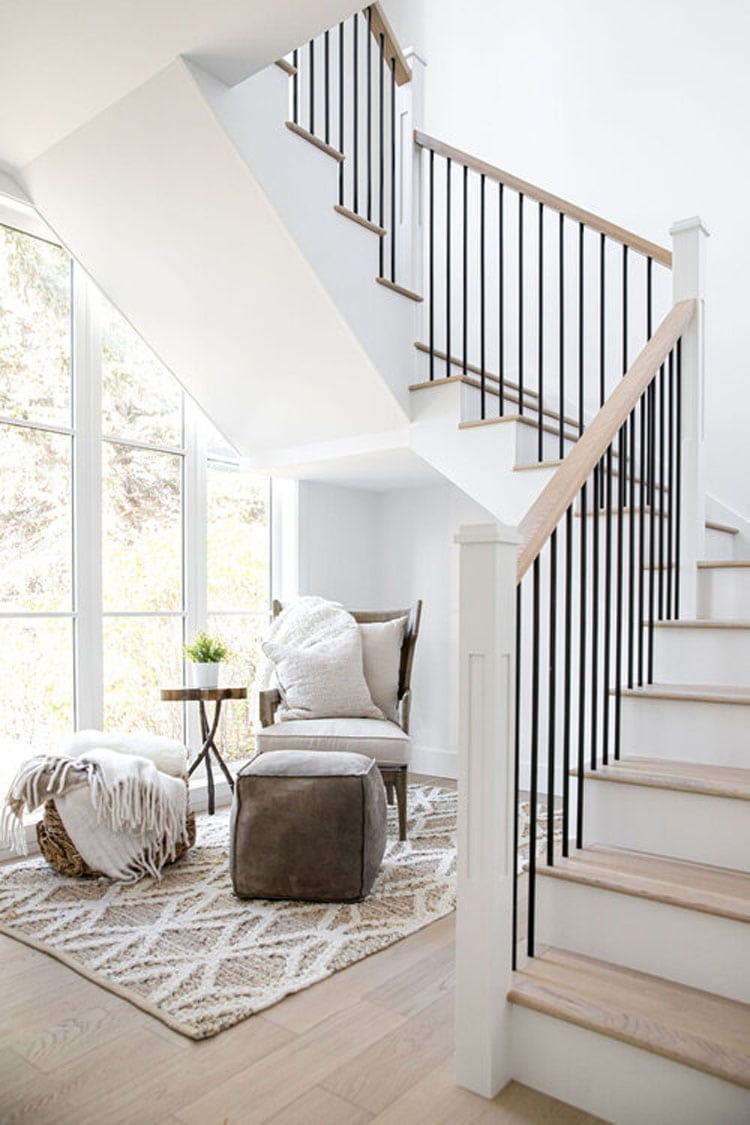 This gorgeous stairway designed by Trickle Creek Homes is so stunning!